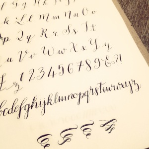 My calligraphy practice sheet
