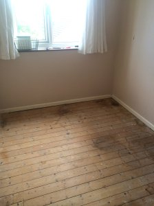 Sewing room - bare floors