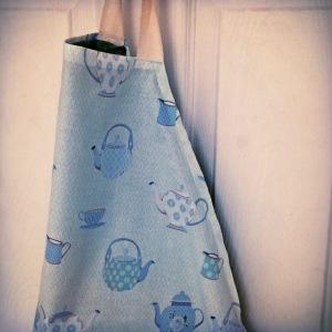 teapot print handmade apron